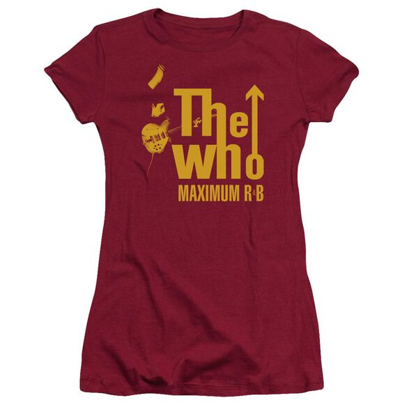 The Who Maximum R&B Short Sleeve Junior Sheer T-Shirt
