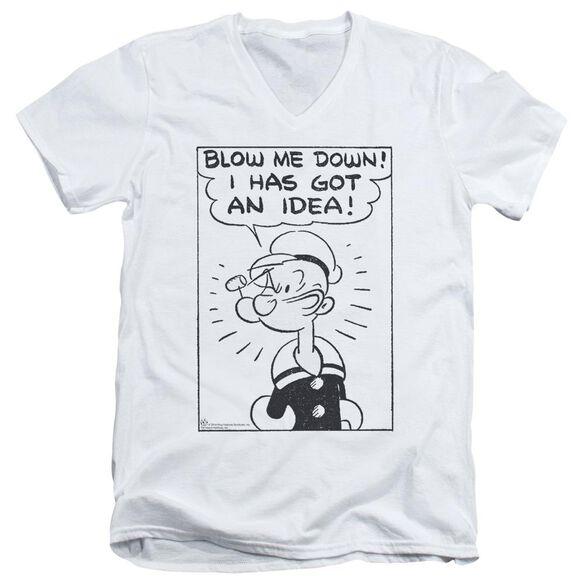 Popeye An Idea Short Sleeve Adult V Neck T-Shirt