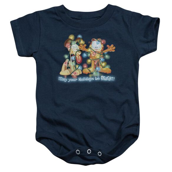 Garfield Bright Holidays Infant Snapsuit Navy
