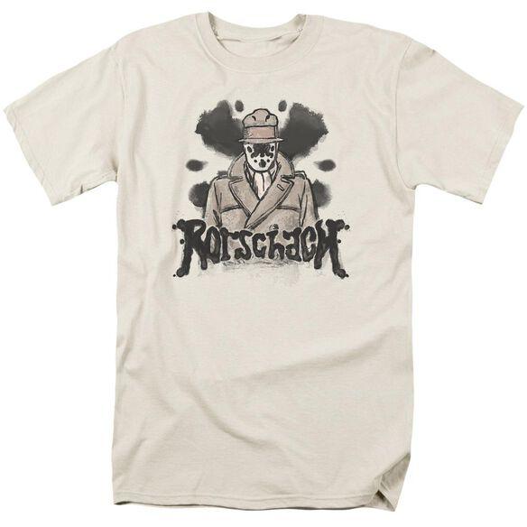 Watchmen Ink Blot Short Sleeve Adult Cream T-Shirt