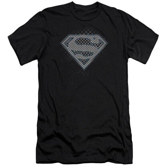 Superman Checkerboard Premuim Canvas Adult Slim Fit