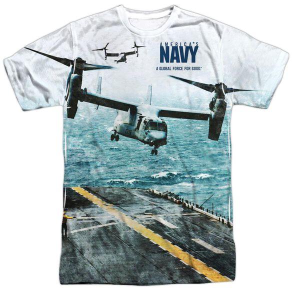 Navy Osprey Short Sleeve Adult Poly Crew T-Shirt