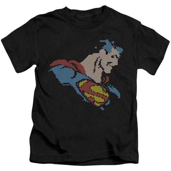 Dc Lite Brite Superman Short Sleeve Juvenile Black T-Shirt