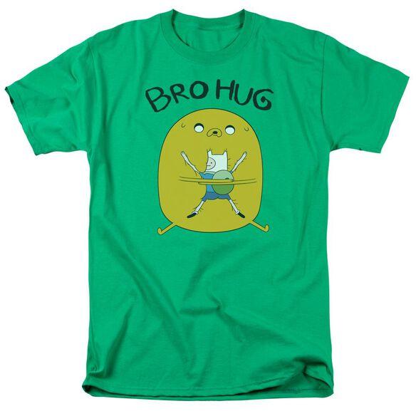 Adventure Time Bro Hug Short Sleeve Adult Kelly T-Shirt