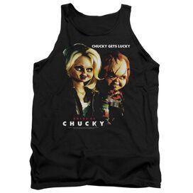 Bride Of Chucky Chucky Gets Lucky - Adult Tank - Black - 2x - Black