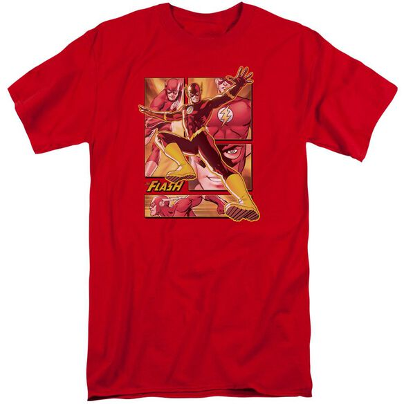 Jla Flash Short Sleeve Adult Tall T-Shirt