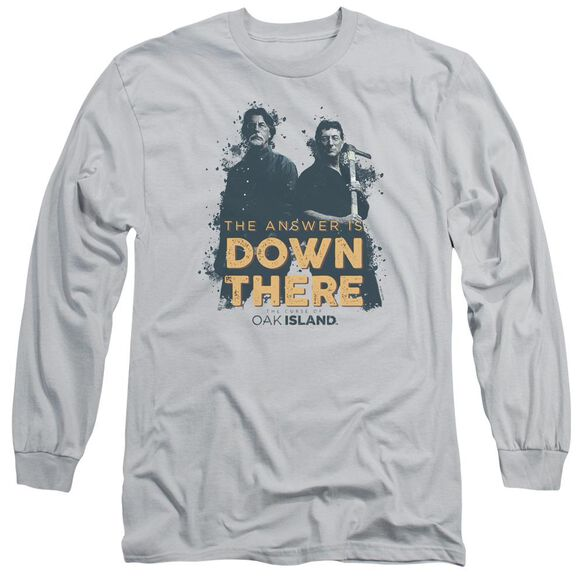 The Curse Of Oak Island Down There Long Sleeve Adult T-Shirt
