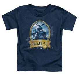 Polar Express True Believer Short Sleeve Toddler Tee Navy T-Shirt