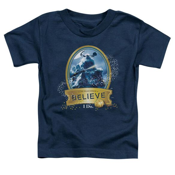 Polar Express True Believer Short Sleeve Toddler Tee Navy T-Shirt