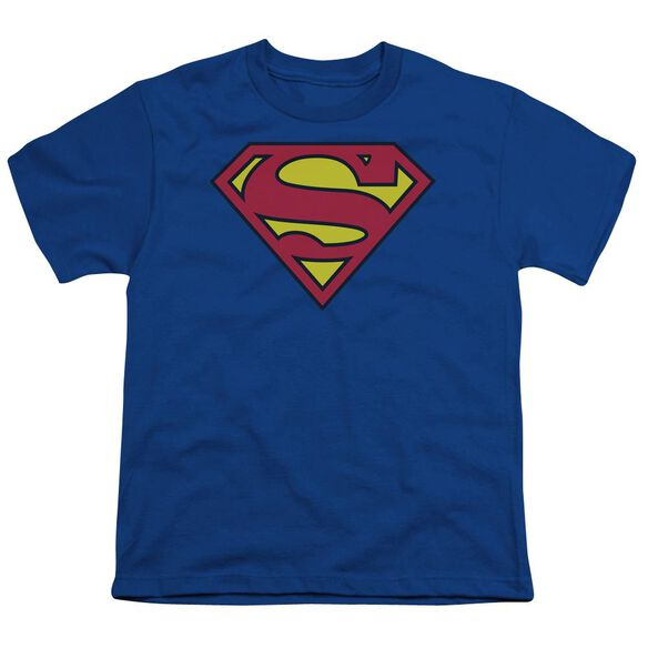 Superman Classic Logo Short Sleeve Youth T-Shirt
