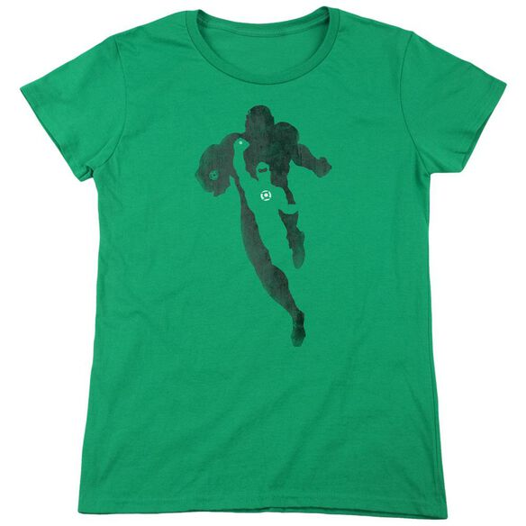 Dc Lantern Knockout Short Sleeve Womens Tee Kelly T-Shirt