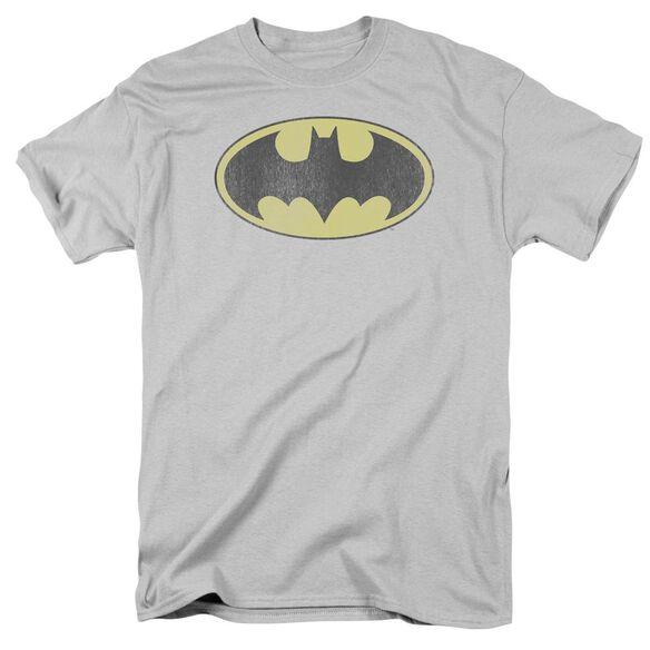 Dc Retro Bat Logo Distressed Short Sleeve Adult T-Shirt