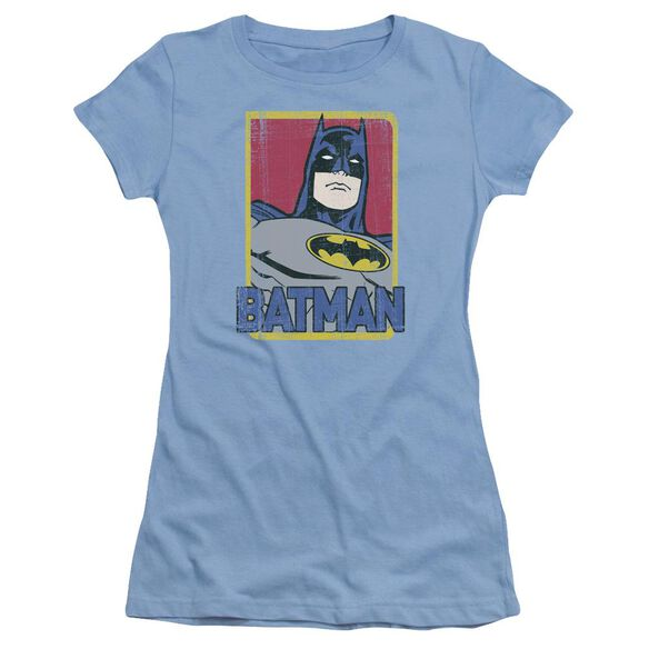 Batman Primary Short Sleeve Junior Sheer Carolina T-Shirt