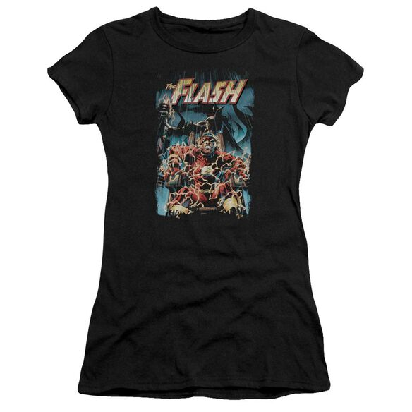 Jla Electric Chair Short Sleeve Junior Sheer T-Shirt