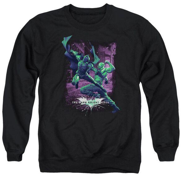 Dark Knight Rises Bat Vs Bane Adult Crewneck Sweatshirt