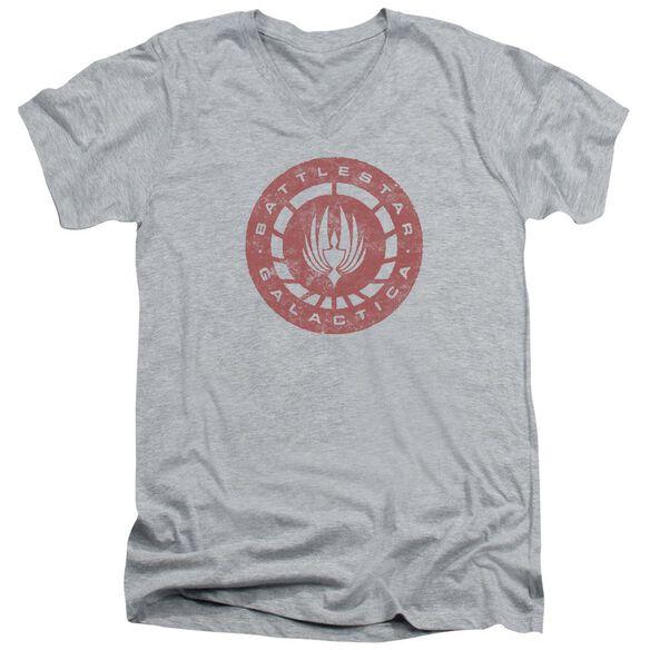 Bsg Eroded Logo Short Sleeve Adult V Neck Athletic T-Shirt