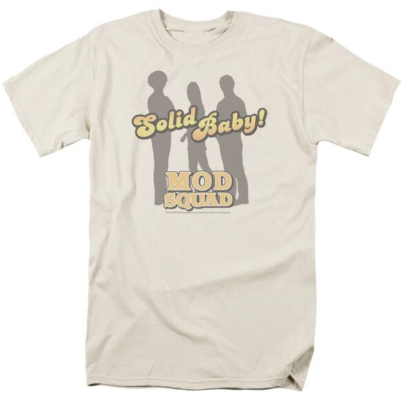 Mod Squad Solid Mod Short Sleeve Adult Cream T-Shirt