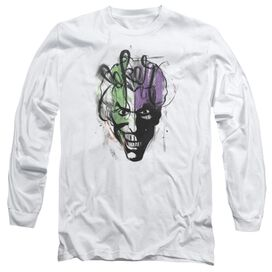 BATMAN JOKER AIRBRUSH- L/S ADULT T-Shirt