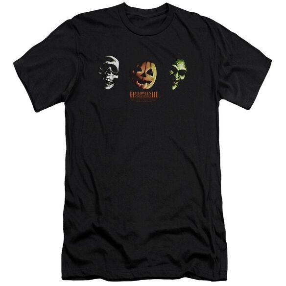 Halloween Iii Three Masks Premuim Canvas Adult Slim Fit