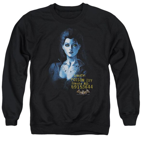Batman Aa Arkham Poison Ivy - Adult Crewneck Sweatshirt - Black