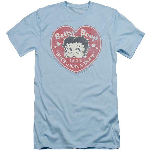 Betty Boop Fan Club Heart Short Sleeve Adult Light T-Shirt