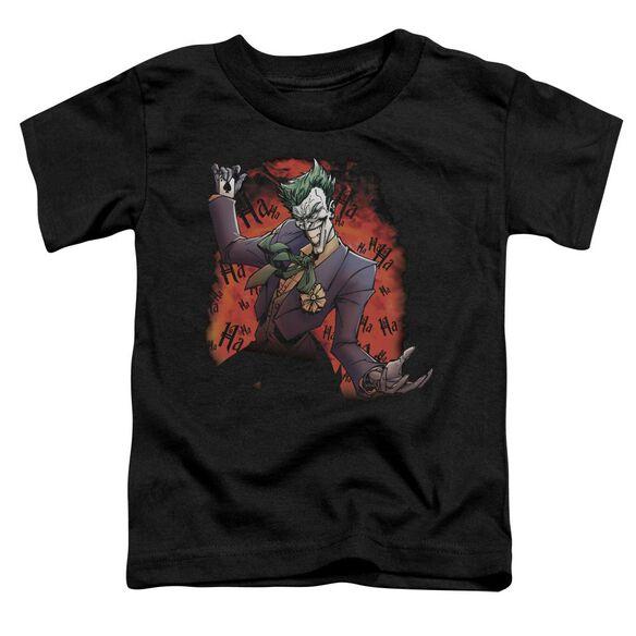 BATMAN JOKERS AVE - S/S TODDLER TEE - BLACK - T-Shirt