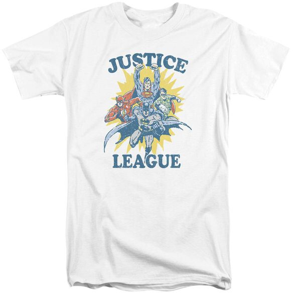 Jla Let's Do This Short Sleeve Adult Tall T-Shirt