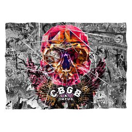 Cbgb Flying Skull (Front Back Print) Pillow Case
