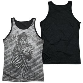 Sons Of Anarchy Black Oyster Club Adult Poly Tank Top Black Back