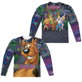 Scooby Doo Big Dog (Front Back Print) Long Sleeve Adult Poly Crew T-Shirt