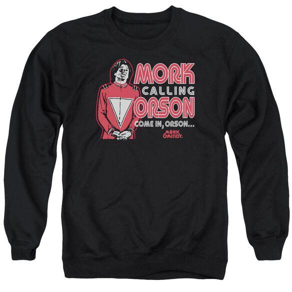 Mork &Amp; Mindy Mork Calling Orson Adult Crewneck Sweatshirt