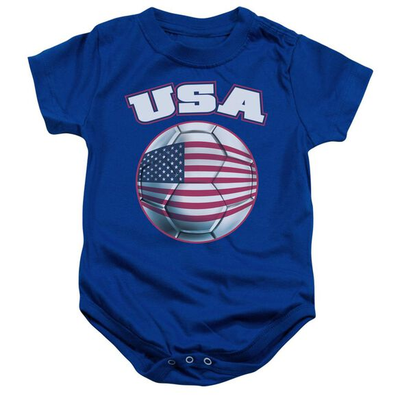Usa Infant Snapsuit Royal Blue Md