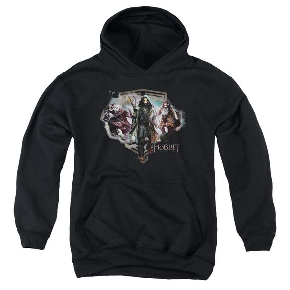 The Hobbit Three Dwarves Youth Pull Over Hoodie