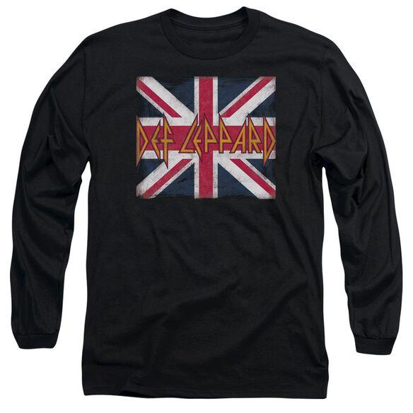 Def Leppard Union Jack Long Sleeve Adult T-Shirt