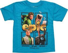 Epic Characters Square Blue Juvenile T-Shirt