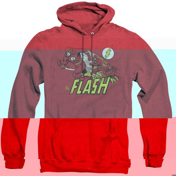 Dc Flash Crimson Comet - Adult Heather Hoodie - Red