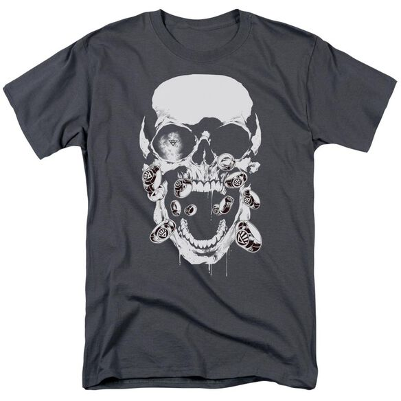 Green Lantern Black Lantern Skull Short Sleeve Adult T-Shirt