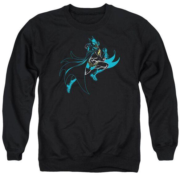 Batman Neon Batman - Adult Crewneck Sweatshirt - Black