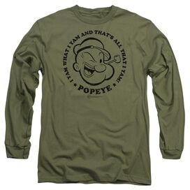 Popeye I Yam Long Sleeve Adult Military T-Shirt