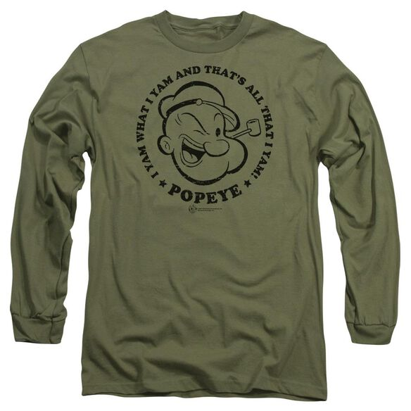 Popeye I Yam Long Sleeve Adult Military T-Shirt
