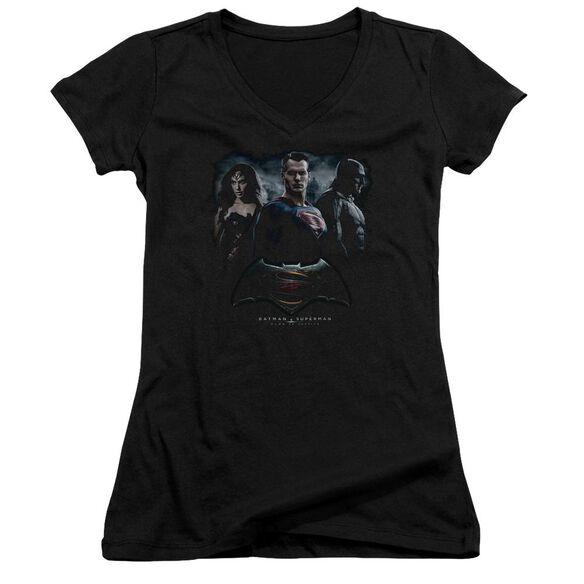 Batman V Superman The Crew Junior V Neck T-Shirt