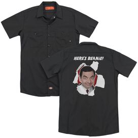 Mr Bean Here's Beanie(Back Print) Adult Work Shirt