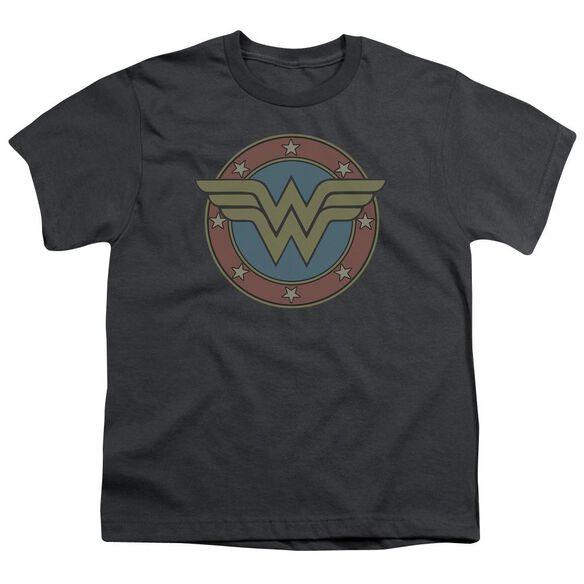 Dc Ww Vintage Emblem Short Sleeve Youth T-Shirt