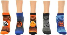 Dragon Ball Super Stripe 5 Pack Lowcut Socks