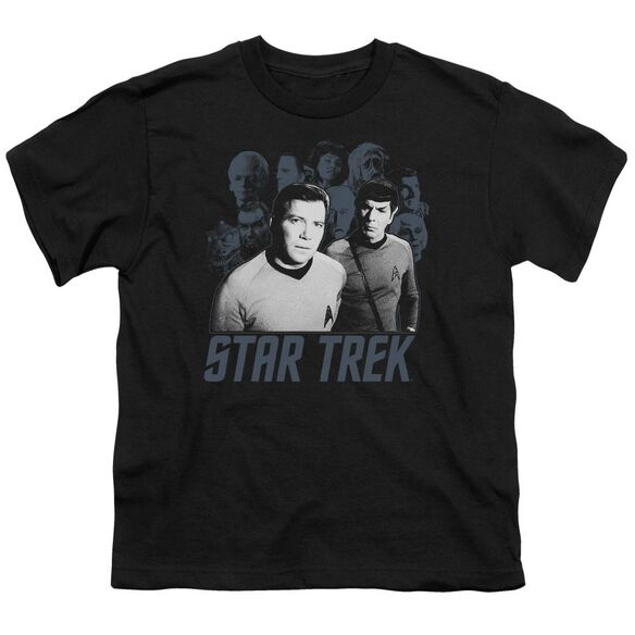 Star Trek Kirk Spock And Company Short Sleeve Youth T-Shirt