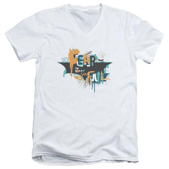 Dark Knight Rises No Fear Short Sleeve Adult V Neck T-Shirt