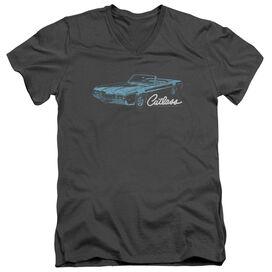 Oldsmobile 68 Cutlass Short Sleeve Adult V Neck T-Shirt