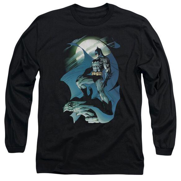 Batman Glow Of The Moon Long Sleeve Adult T-Shirt