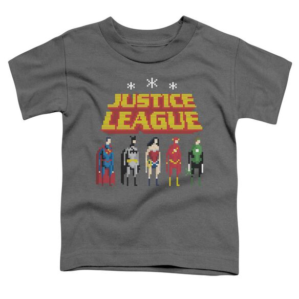 Jla Standing Below Short Sleeve Toddler Tee Charcoal T-Shirt