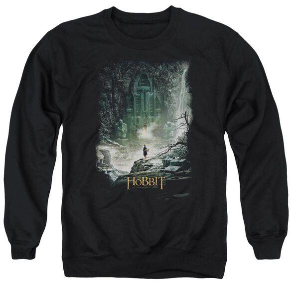 Hobbit At Smaug'S Door Adult Crewneck Sweatshirt
